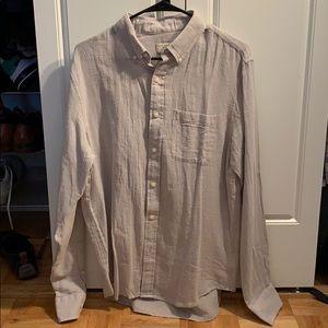 Club Monaco men's slim fit medium linen shirt